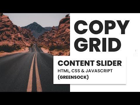 Content Slider   HTML, CSS & JavaScript (GREENSOCK)   Copygrid
