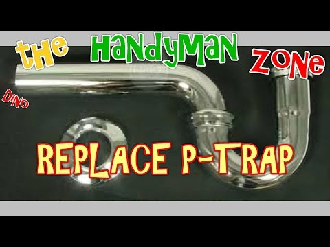 replace leaky bathroom sink drain pipe,  p-trap kit