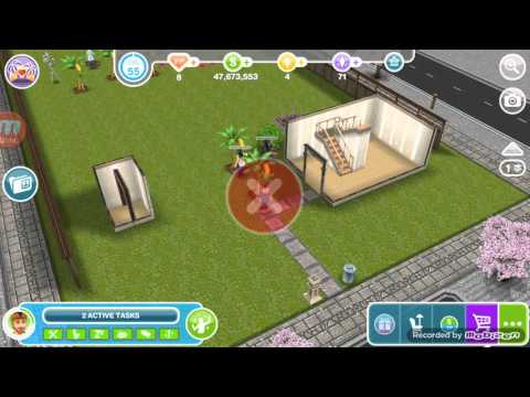 Sims Freeplay fruit glitch with stairs