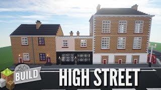 Minecraft: High Street Shops & Bridge - Let