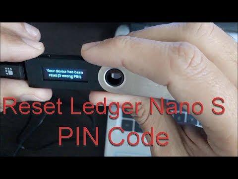 How to Reset Forgot Ledger Nano S PIN -Reset and Restore Ledger Wallet