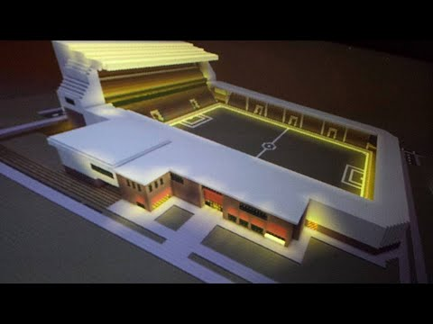 Minecraft : Tutorial How To Build A Football - Soccer Stadium In Real Time & Created