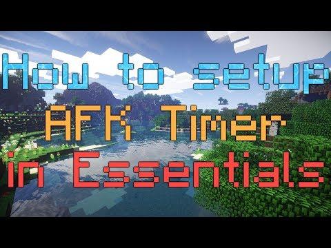 How to setup AFK Timer in Essentials (EssentialsX)
