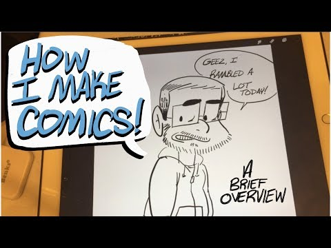 How I Make Comics on an iPad Pro: A Brief Overview