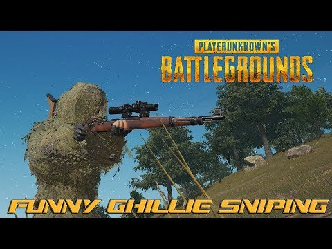 Funny Ghillie Sniping! : Playerunknown's Battlegrounds!
