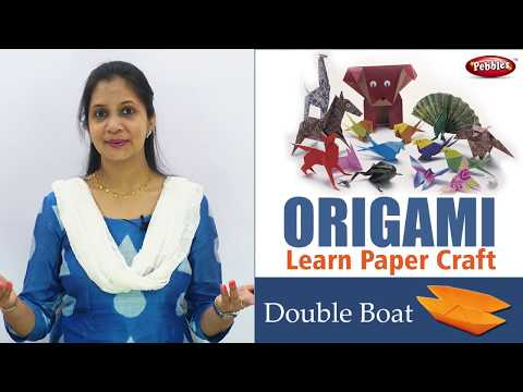 How to make Origami Paper Double Boat in English | Origami Craft for Kids | Easy Paper Craft