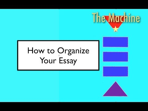 How to Organize Your Essay (The Machine)