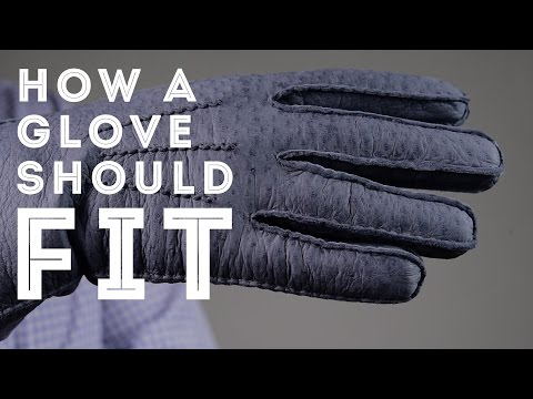 How A Glove Should Fit & Men's Dress Gloves Sizing