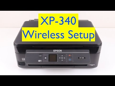 Epson XP-340 Wifi Printer Setup