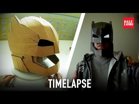 Timelapse - Make Armored Batman Helmet DIY Cosplay