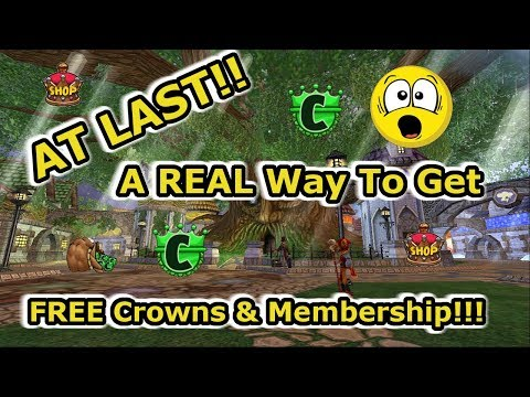 At LAST!!  A REAL Way To Get Free Crowns and Membership on Wizard101