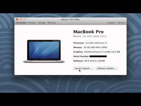 Mac: How to check Memory, Storage, Displays, Processor, Graphics, Serial Number, Software and more