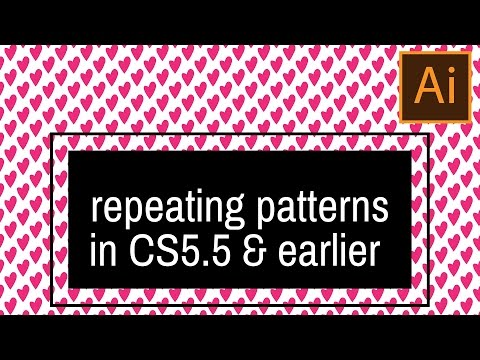 Make seamless repeating patterns in Illustrator CS5.5 and earlier