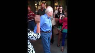 Former President Jimmy Carter leaving Cracker Barrel in And