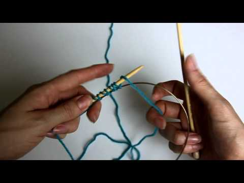 How to Knit: Provisional Cast-On using Cable of Circular Needle