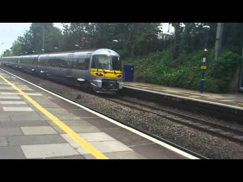ealing broadway heathrow express train at speed