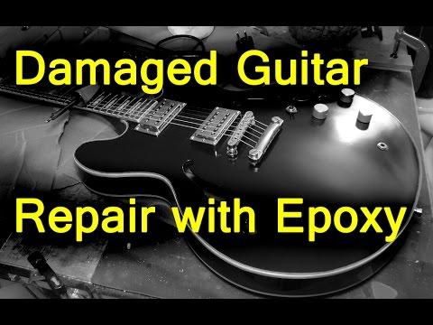 Guitar repair - pickup cavities repair with Epoxy