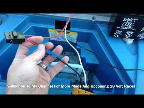 EASY - How To Modify 12 Volt Power Wheels To 18 Volts.  Jeep Hurricane 18 Volt Upgrade
