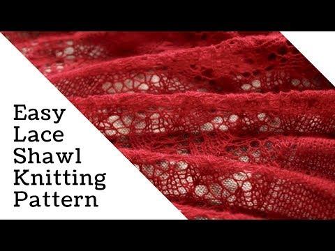 easy lace shawl knitting pattern