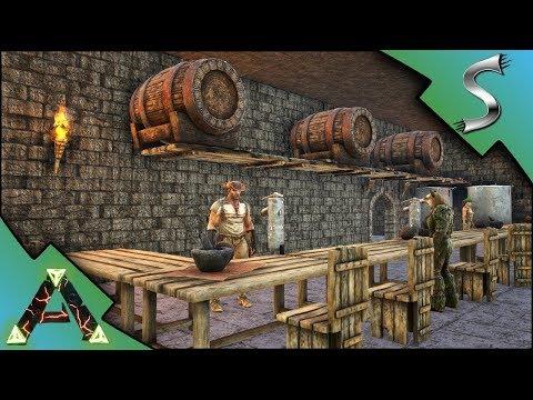 BAR AND BREWERY BELOW THE CASTLE! - Ark: RAGNAROK [DLC Gameplay E33]