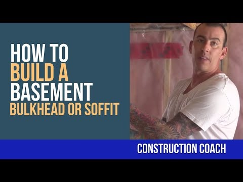 How to Build a Basement Bulkhead or Soffit - DIY