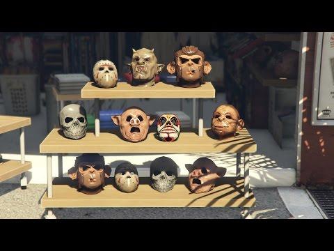 GTA-5| Mask Showcase|All Masks On GTA-5 ONLINE|