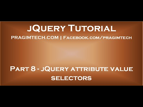 jQuery attribute value selector