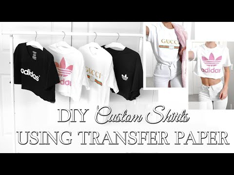 EASY DIY CUSTOM T SHIRTS //  Whatever Design You Want // HOW TO USE TRANSFER PAPER //