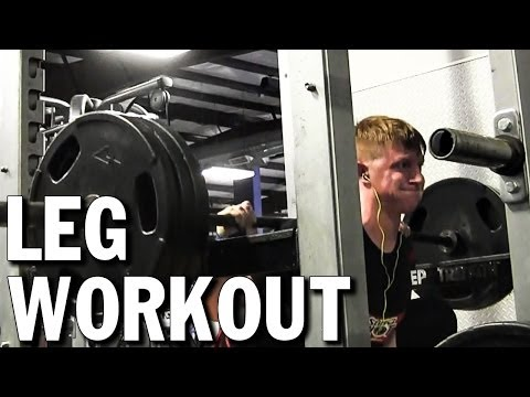 Mass Building Leg Workout, Squat Tips, & Protein Shake