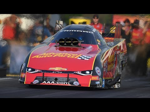 Courtney Force runs the first 3-second Funny Car pass at Virginia Motorsports Park and goes No. 1