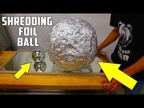 Shredding Giant Mirror Polished Japanese Aluminium Foil Ball