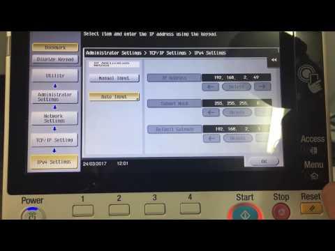 Konica Minolta: How to update IP Settings (C258/224e Series)
