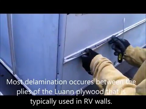Repairing a delaminated RV wall and bubbled Filon