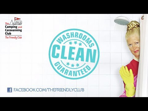 The Camping and Caravanning Club's Clean Washrooms Guarantee with Kim Woodburn