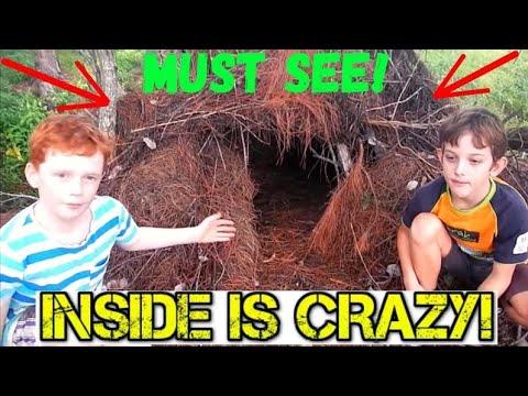 Kids Make the Ultimate Survival Shelter