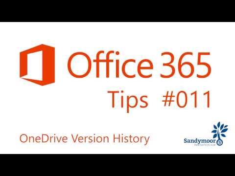 Office 365 Tips #11 OneDrive Version History