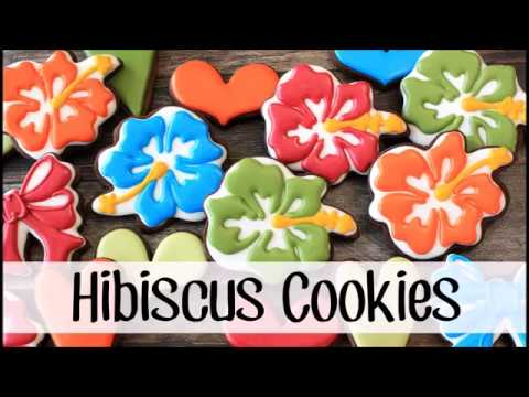 How to Make Decorated Hibiscus Sugar Cookies