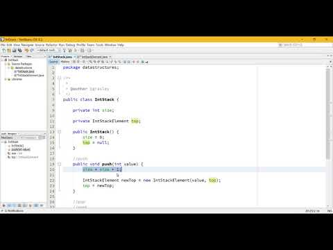 Writing a Stack data structure to hold int (primitive) values in Java