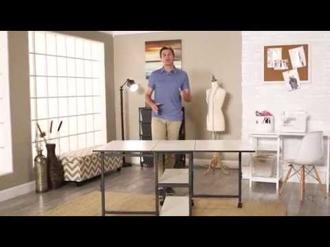 Sullivans Adjustable Home Hobby Table - Product Review Video