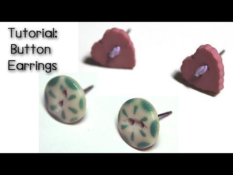 Tutorial: Button Earrings