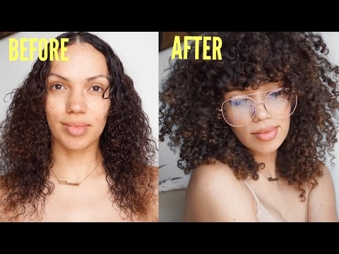 HOW TO : DIY CURLY BANGS | SPRING HAIR REFRESH W/CURLS