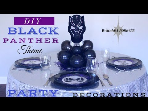BLACK PANTHER PARTY DECORATIONS   DIY BLACK PANTHER PARTY IDEAS