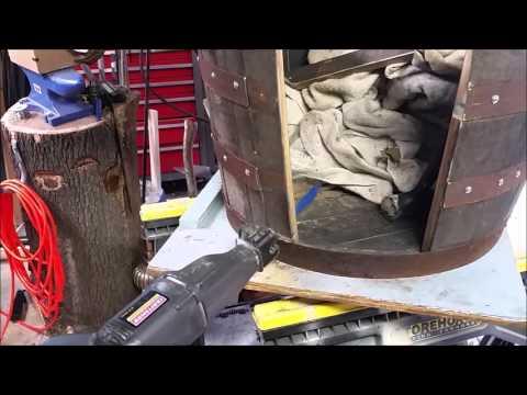 Half Whiskey Barrel Conversion to Dog House