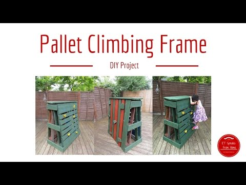 How to make Pallet Climbing Frame / Rock Climbing with RYOBI Tools