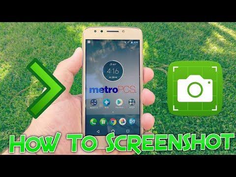 How To Screenshot On Moto E4