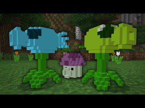 PLANTS vs. ZOMBIES .... in Minecraft?!? (PE W10 XB1)