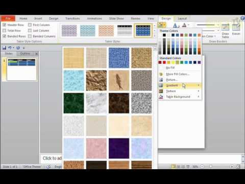 How to Change the Table Design in PowerPoint 2010  - OnTrackTV