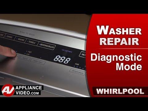 Whirlpool washer -  Diagnostics - Error codes