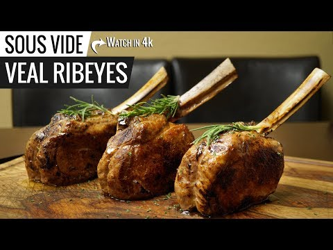 Sous Vide VEAL BONE-IN RIBEYE with Veal Sauce!