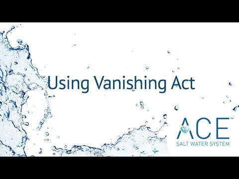 Using Vanishing Act With Your Hot Spring Spa ACE System